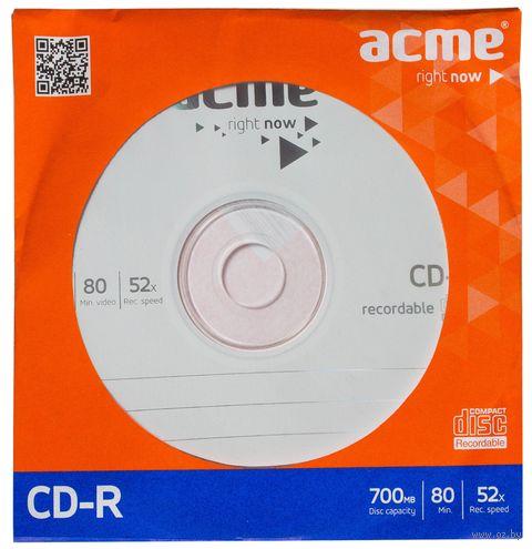Диск CD-R 700MB 52х Acme (бумажный конверт)