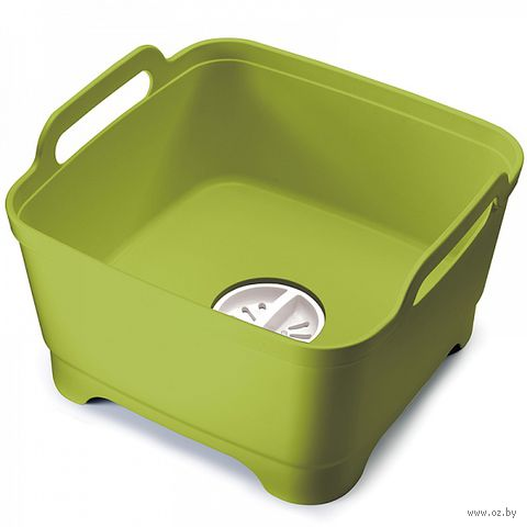 """Емкость для мытья посуды """"Wash&Drain"""" (зеленая) — фото, картинка"""