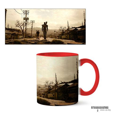 """Кружка """"Fallout 3"""" (красная) — фото, картинка"""