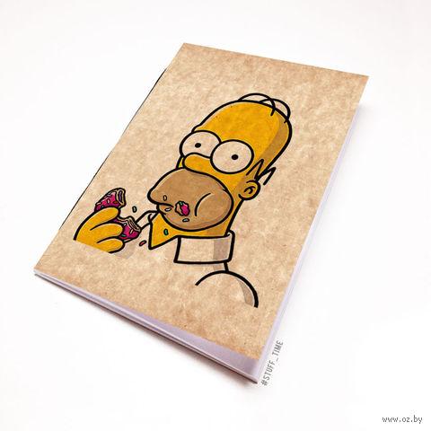 """Блокнот крафт """"Гомер Симпсон"""" А5 (арт. 002)"""