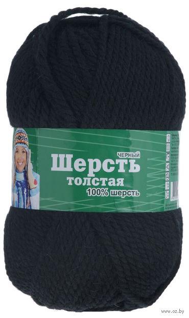 """Пряжа """"Астра. Wool XL"""" (черная; 100 г; 110 м) — фото, картинка"""