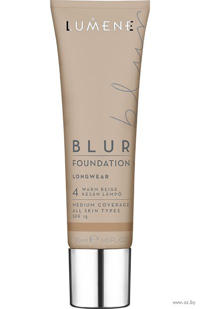 """Тональный крем для лица """"Blur Foundation"""" SPF 15 тон: 4, warm beige — фото, картинка"""
