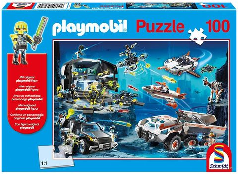 """Пазл с подарком """"Playmobil. Суперагенты"""" (100 элементов) — фото, картинка"""
