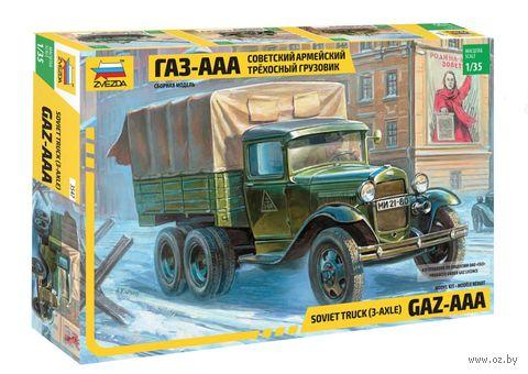 """Сборная модель """"Советский трехосный армейский грузовик Газ-ААА"""" (масштаб: 1/35) — фото, картинка"""