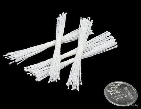 """Набор для керамической флористики """"Тычинки белые"""" (5 пучков) — фото, картинка"""