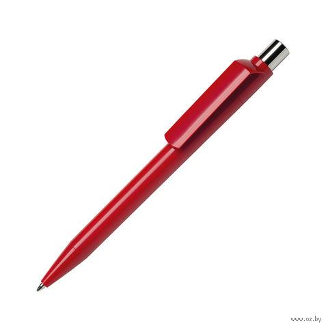Ручка шариковая автоматическая Dot (цвет корпуса: красный)