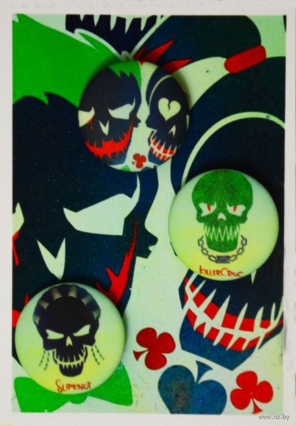 "Набор значков маленьких ""Отряд самоубийц"" (арт. 727) — фото, картинка"