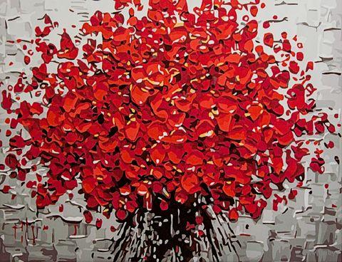 "Картина по номерам ""Красный букет"" (300х400 мм; арт. PC3040058) — фото, картинка"