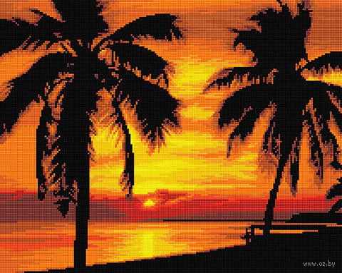 "Алмазная вышивка-мозаика ""Морской закат"" (400х500 мм) — фото, картинка"
