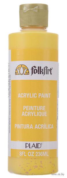 "Краска акриловая ""FolkArt. Acrylic Paint"" (желтый автобус; 236 мл; арт. PLD-00827) — фото, картинка"