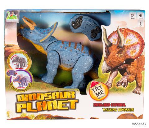 """Игрушка на радиоуправлении """"Динозавр Трицератопс"""" — фото, картинка"""