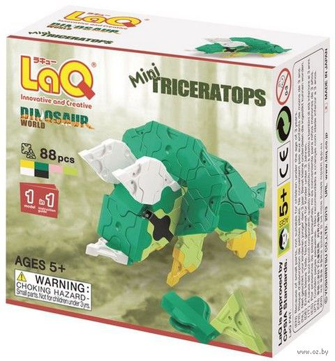 "Конструктор ""LaQ. Mini Triceratops"" (88 деталей)"
