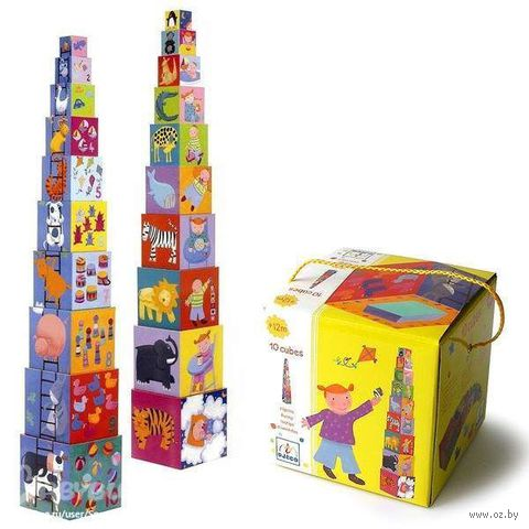 "Кубики-пирамида ""Забавные кубики"" (10 шт)"