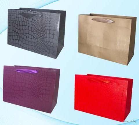 Пакет бумажный подарочный (в ассортименте; 32х26х14 см; арт. МС-1550)
