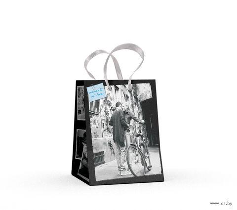 """Пакет бумажный подарочный """"Романтические пары"""" (11,1х13,7х6,2 см) — фото, картинка"""