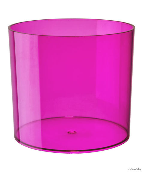 """Цветочный горшок """"Цилиндр"""" (15 см; прозрачный розовый) — фото, картинка"""