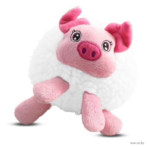 """Игрушка для собак """"Свинка плюшевая"""" (13 см) — фото, картинка"""