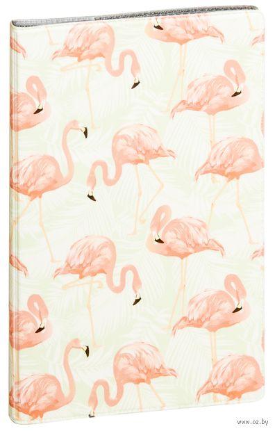 """Обложка на паспорт """"Фламинго"""" — фото, картинка"""
