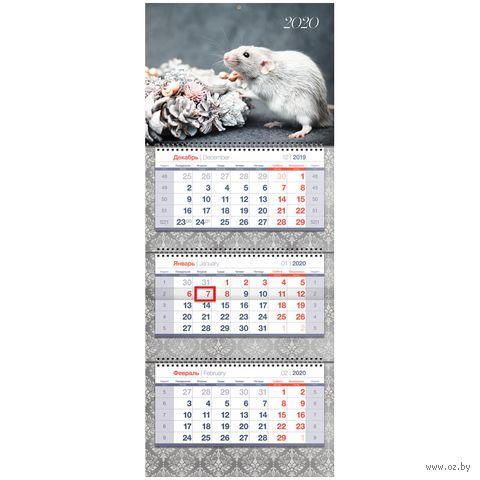 """Календарь настенный квартальный на 2020 год """"Символ года"""" (33х81 см) — фото, картинка"""