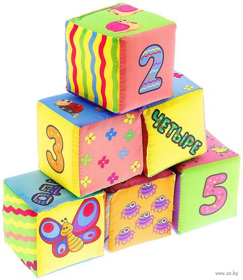 """Кубики """"Крошки-букашки"""" (6 шт) — фото, картинка"""