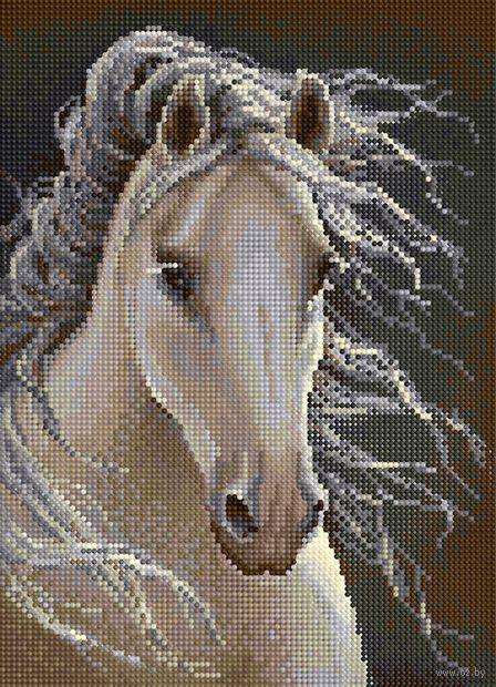 """Алмазная вышивка-мозаика """"Лошадь"""" (360х260 мм) — фото, картинка"""