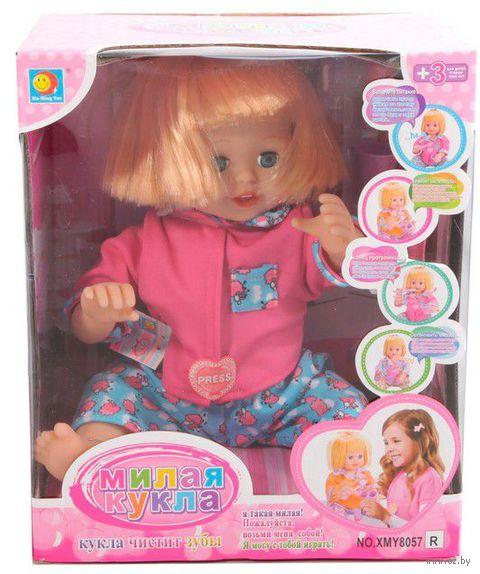 """Кукла интерактивная """"Малышка с зубной щеткой"""""""