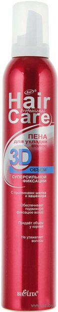 """Пена для укладки волос """"3D объем суперсильной фиксации"""" (300 мл)"""