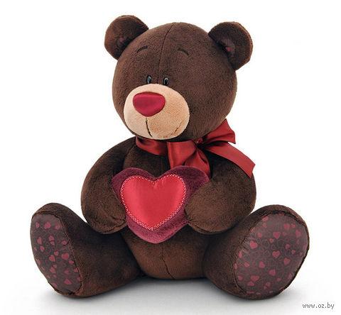"""Мягкая игрушка """"Медведь Choco с сердцем"""" (20 см) — фото, картинка"""