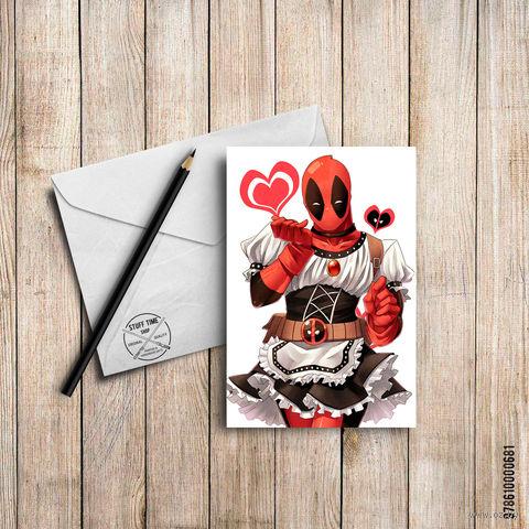 "Открытка ""Deadpool"" (арт. 681)"