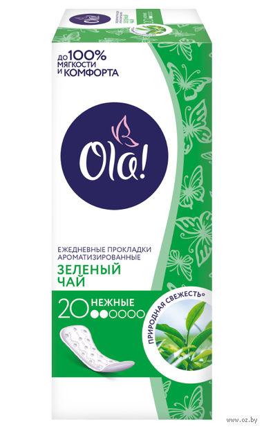 """Ежедневные прокладки """"Ola! Daily Deo. Зеленый чай"""" (20 шт.) — фото, картинка"""