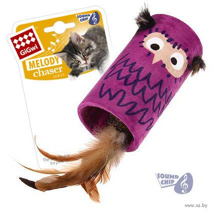"""Игрушка для кошек со звуковым чипом """"Сова-цилиндр"""" (22 см) — фото, картинка"""