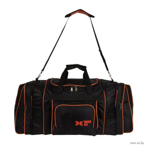 Сумка дорожная 6072с (127 л; чёрно-оранжевая) — фото, картинка