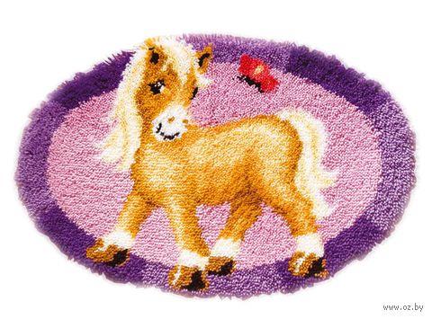 """Вышивка в ковровой технике """"Коврик. Пони с бабочкой"""" (650х450 мм) — фото, картинка"""