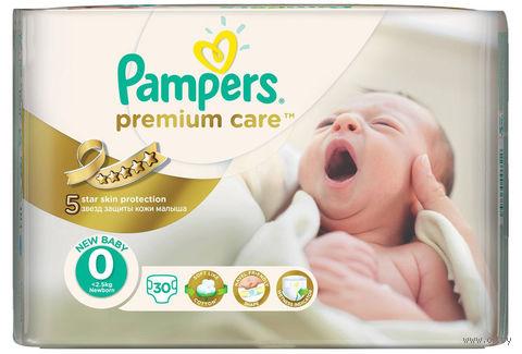 "Подгузники ""Pampers Premium Care"" (до 2,5 кг, 30 шт)"