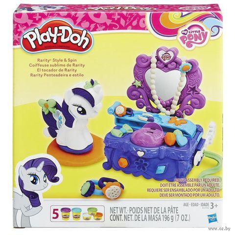 "Набор для лепки ""Play-Doh. Туалетный столик Рарити"" — фото, картинка"