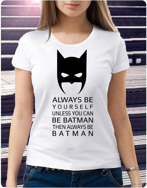 "Футболка женская ""Бэтмен"" (размер 46; арт. 1) — фото, картинка"