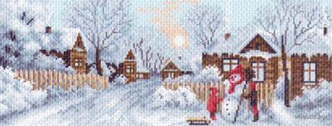 """Канва с нанесенным рисунком """"Зимние забавы"""""""