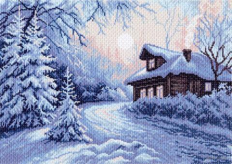 "Канва с нанесенным рисунком ""Мороз"" — фото, картинка"