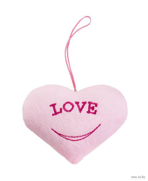 "Мягкая игрушка-брелок ""Сердечко розовое"" — фото, картинка"