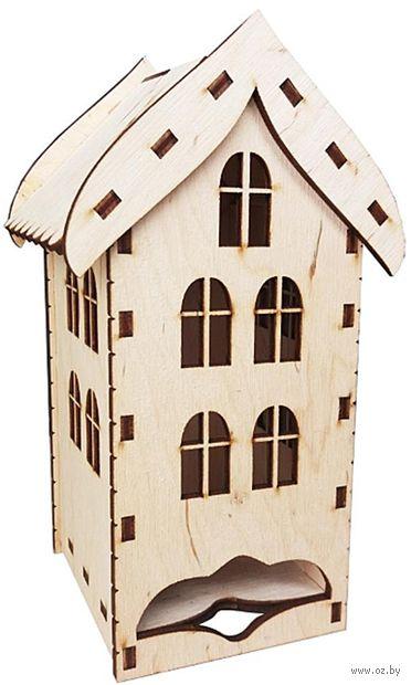 """Заготовка деревянная """"Чайный домик с окнами"""" (80х85х190 мм) — фото, картинка"""