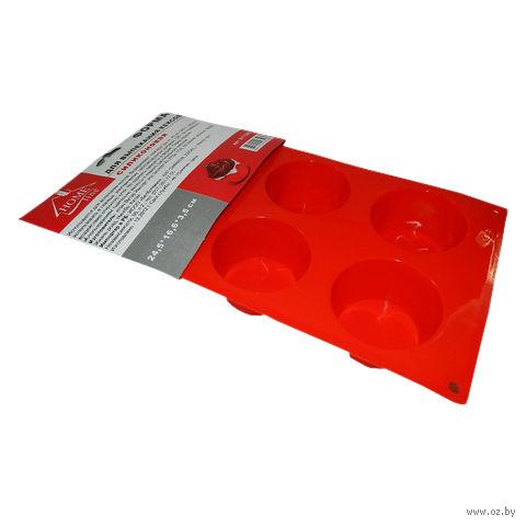 Форма для выпекания кексов силиконовая (245х166х35 мм)