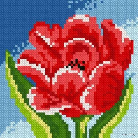 """Алмазная вышивка-мозаика """"Красный тюльпан"""""""