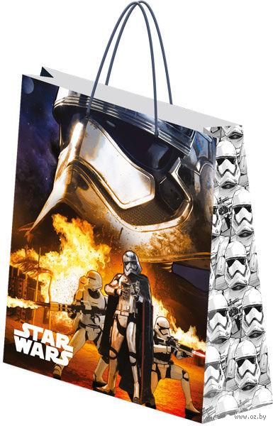 """Пакет бумажный подарочный """"Star Wars"""" (18х21х8,5 см; арт. SWEP-UG1-1821-MAT)"""