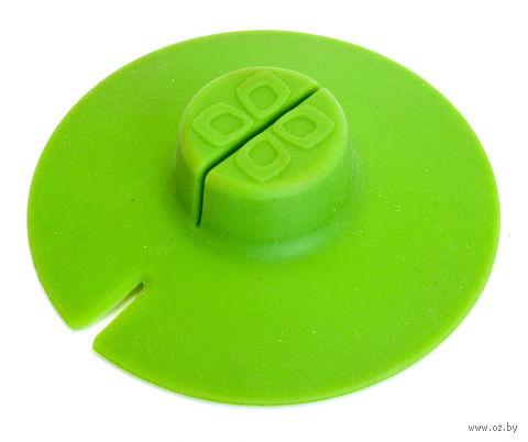 Крышка для заваривания и отжима чайных пакетиков (зеленая) — фото, картинка