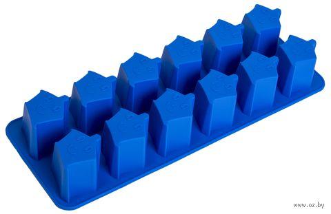 """Форма для льда силиконовая """"Звездочки"""" (синяя) — фото, картинка"""