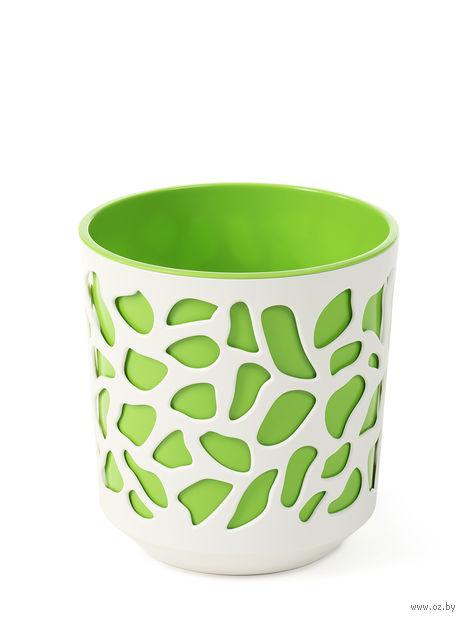"Кашпо ""Duet"" (25 см; зеленое; арт. LA762-36) — фото, картинка"