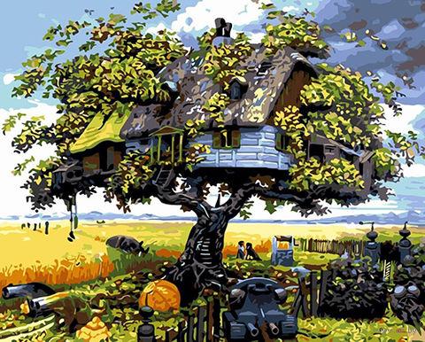 "Картина по номерам ""Дом на дереве"" (400х500 мм; арт. PC4050198) — фото, картинка"
