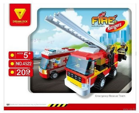 """Конструктор """"Пожарные спасатели. Пожарная техника"""" (209 деталей) — фото, картинка"""
