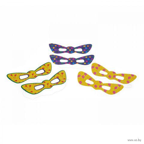 Набор карнавальных масок (6 шт.) — фото, картинка