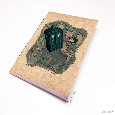 """Блокнот крафт """"Доктор Кто. Тардис и Алиса"""" А5 (012)"""